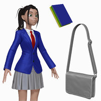 ztl sculpt cartoon teenage student