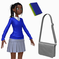 3d sculpt cartoon teenage student