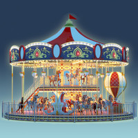 3d carousel carrousel
