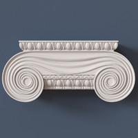 pilaster capital 3d model