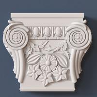 3d model pilaster capital