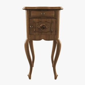 3d model french nightstand