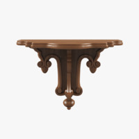 carved shelf 3d max