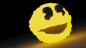 3d max pixel pacman ghost