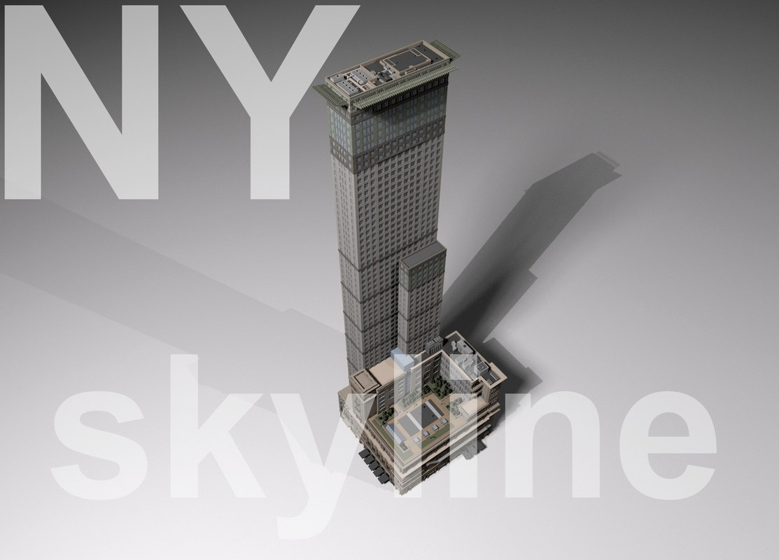 3dsmax ny skyline carnegie