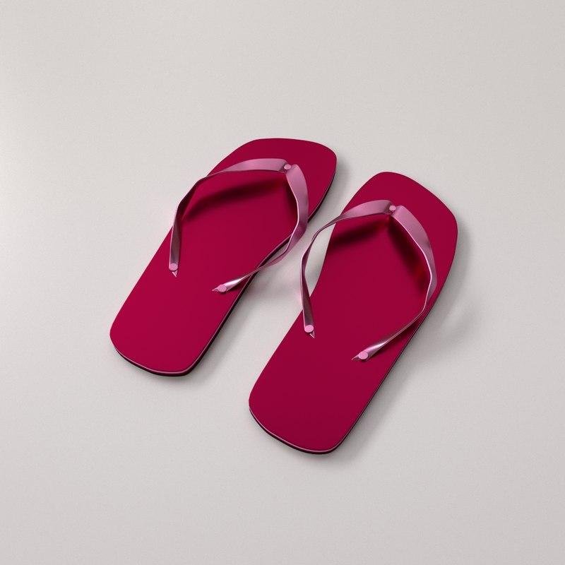 3d slippers slip model