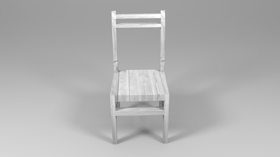 wooden chair small obj