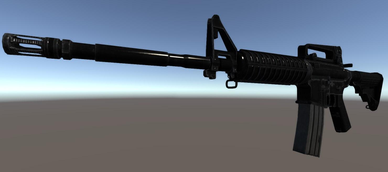 m4a1 carbine fbx