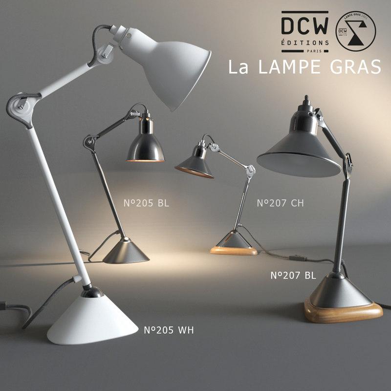 3dsmax table lamps la gras