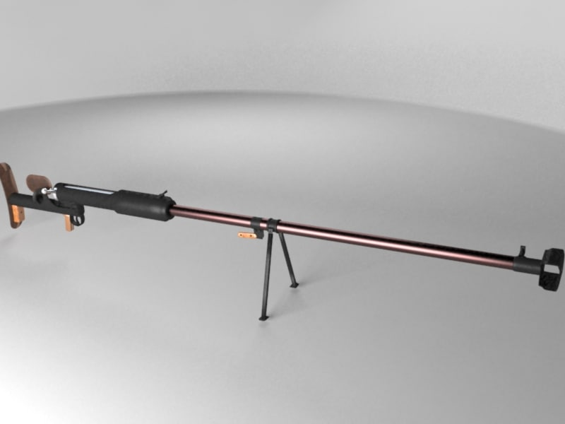 3d anti-tank gun degtyarev model