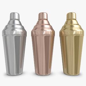 cocktail shaker 4 3d model