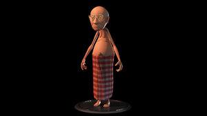 3d character man cartoon