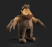 3d cartoon biker