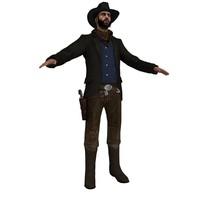 3d model of cowboy hat 4