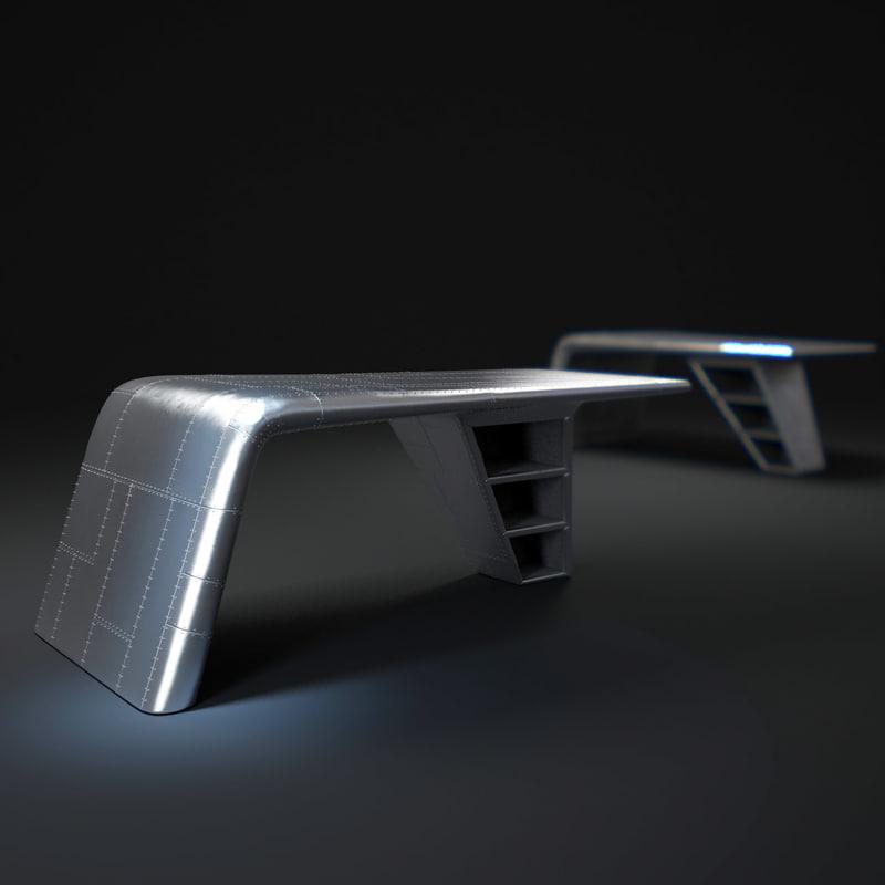 aviator-wing-desk 3d max