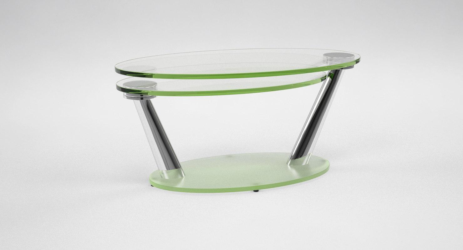 tavolino basso naos miles 3d model