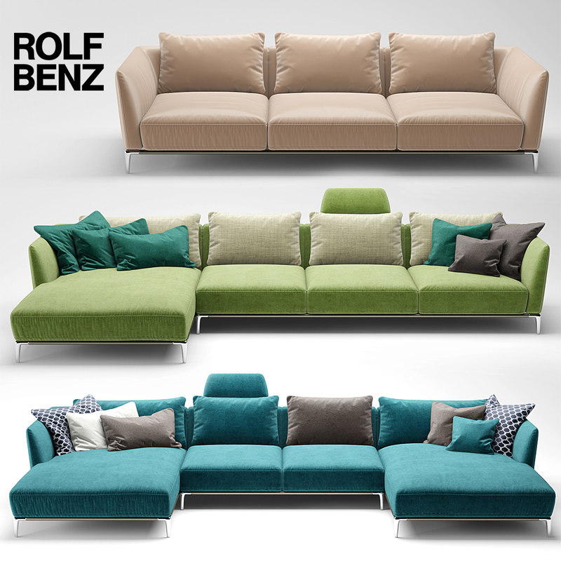 3d model sofa rolf benz for Couch benz