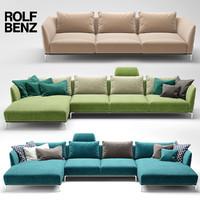 3d model sofa rolf benz