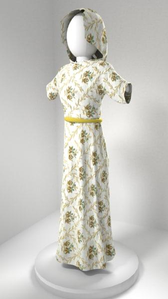 free dress 3d model