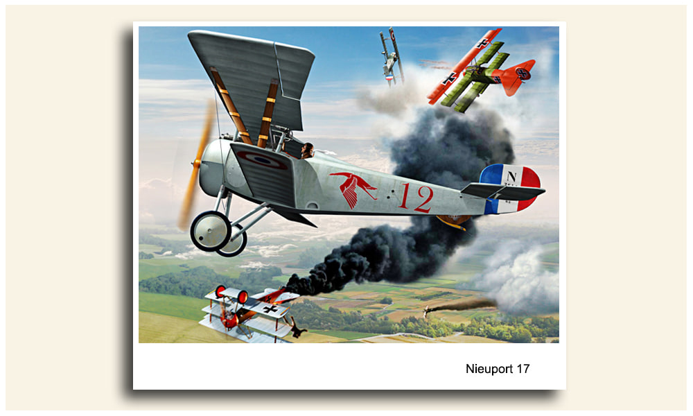 max airplane nieuport 17 fighter