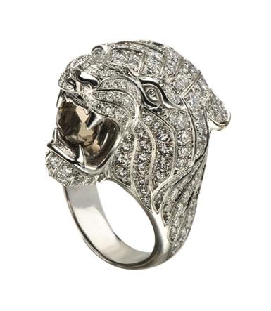 3d model lion ring