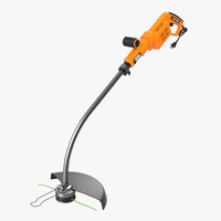 lawn trimmer black decker 3d obj