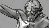 3dm sculpture jesus