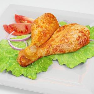 3d chicken legs model