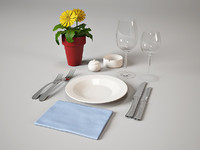 place setting tableware restaurant