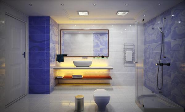 3d model bathroom wc