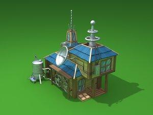 laboratory house 3d model