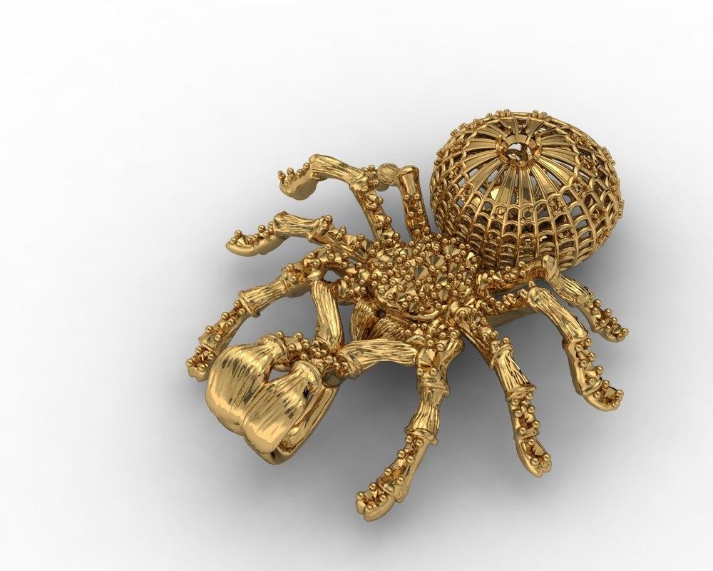 3d model jewellery spider