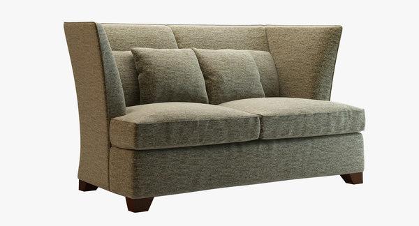 free - gramercy sofa donghia 3d model
