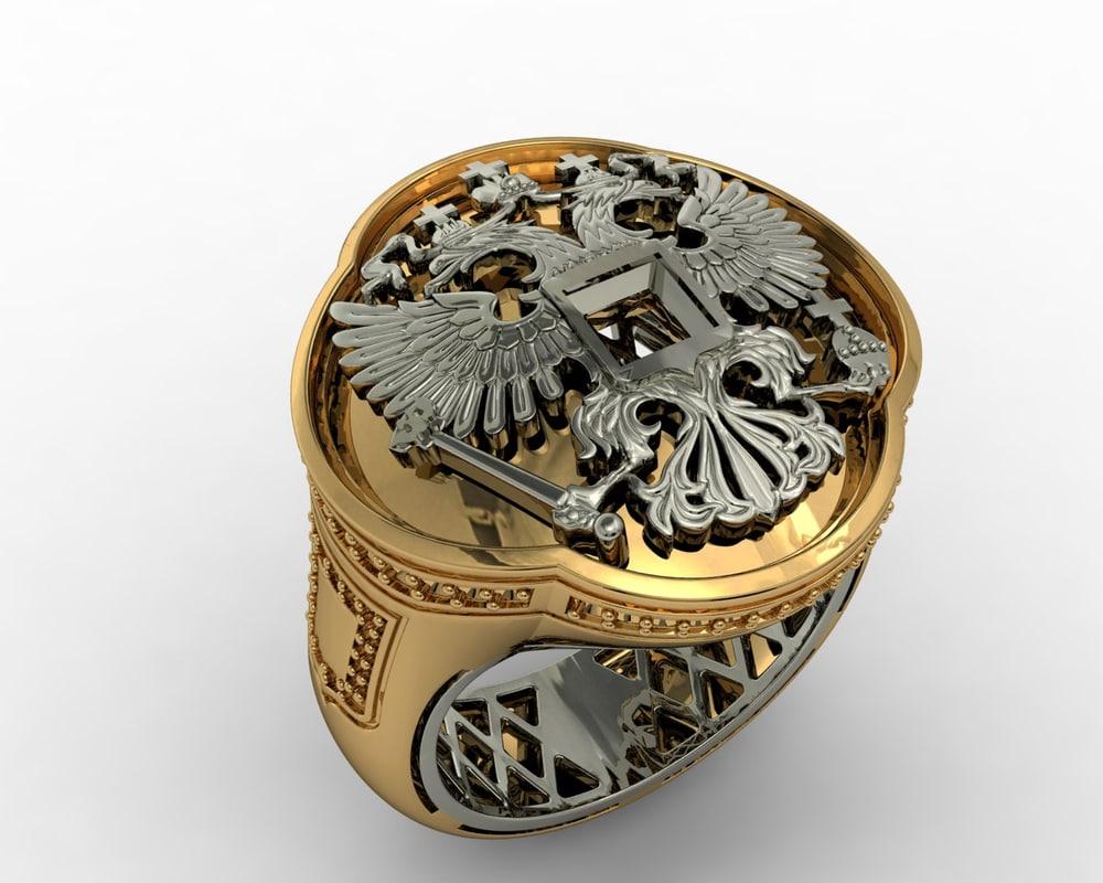 3d jewellery man ring model