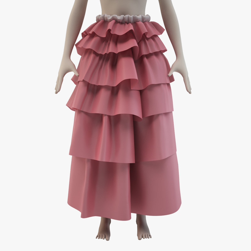 skirt female avatar 3d model
