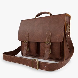 3d model leather bag