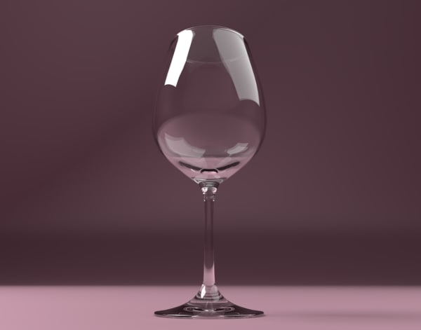 wine glass obj free