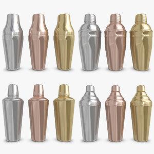 3d model cocktail shaker set