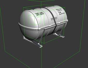 3d deploying life raft model