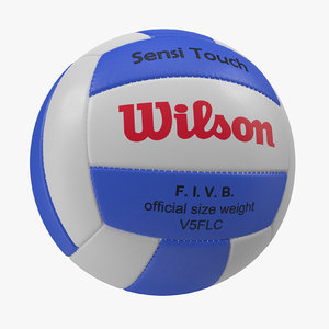 3d volleyball ball wilson modeled model