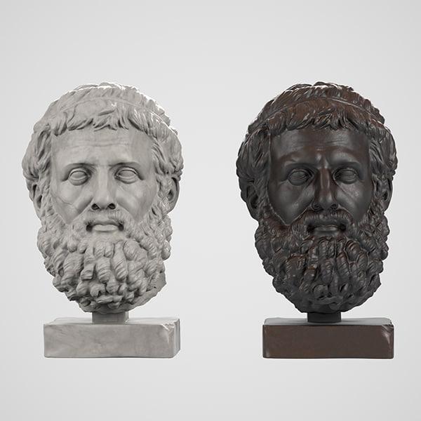 head sculpture sophokles max