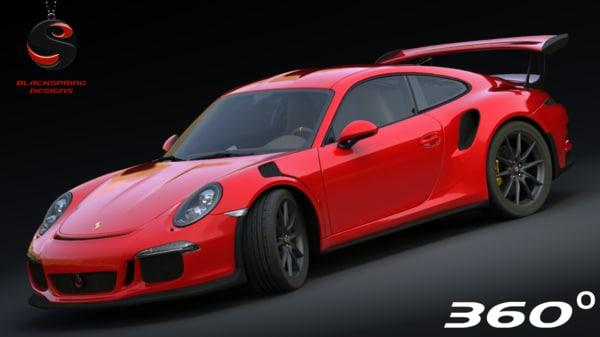 3d model porsche 911 gt3 rs