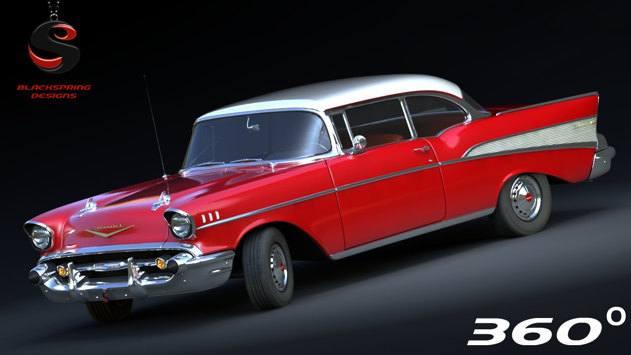 chevrolet bel air 1956 3d max