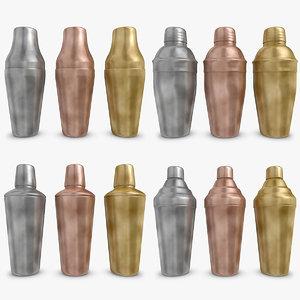 cocktail shaker vintage set 3d max