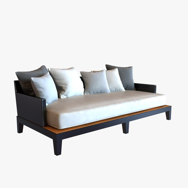 3ds max sofa christian liaigre holly