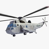 ch-124 sea king helicopter 3ds