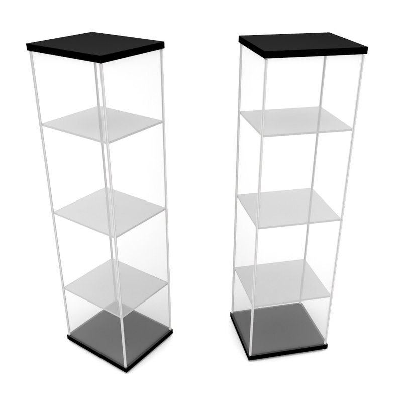 3d glass showcase model
