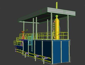 mudtank gas buster 3d max
