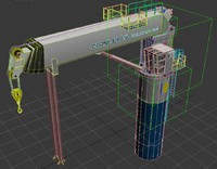 telescope crane 3d model