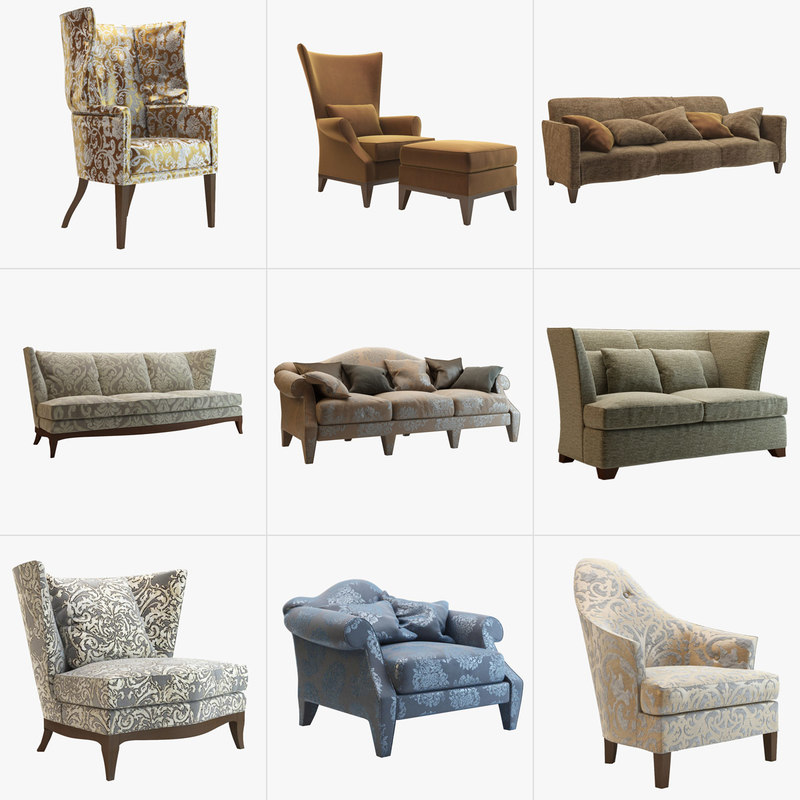 donghia sofas armchairs 3d model